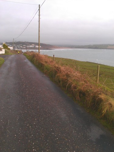 Around mile 18 with the start/finish across the bay at Inchydoney.